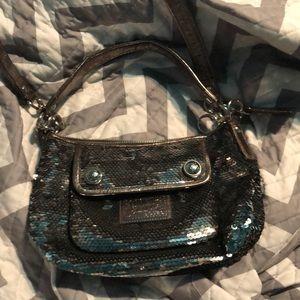 Sequin coach purse